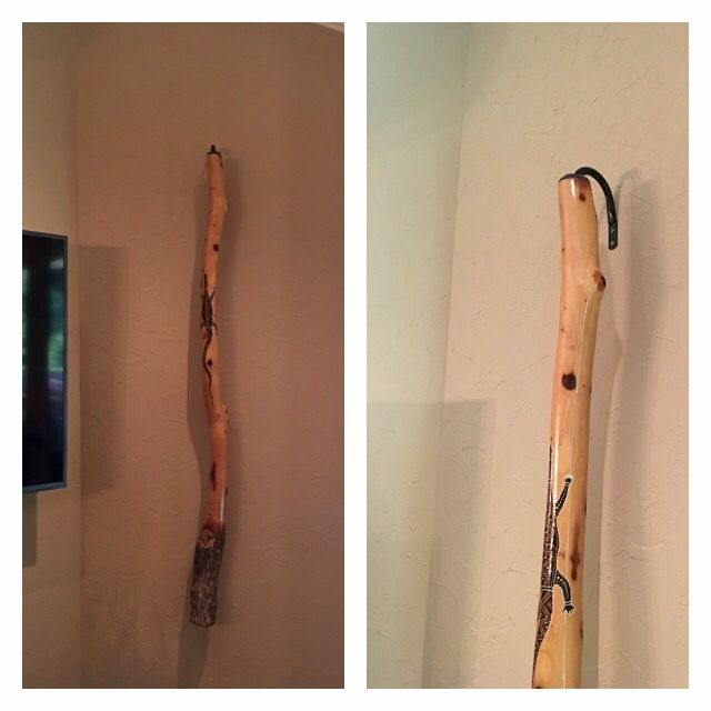 Hanging A Didgeridoo With Curtain Tie Back Hangers All