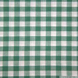 Tissu Coton Vichy 9mm Vert