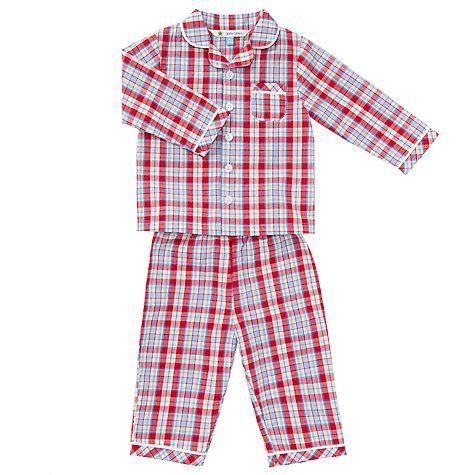 Buy John Lewis Baby Check Print Pyjamas, Red Multi Online at johnlewis.com £15