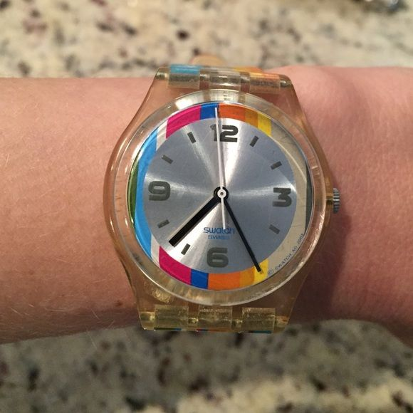 Swatch watch Swatch watch from 2004 Olympics. Hardly worn. Needs battery. Few scratches on face. Swatch Accessories Watches