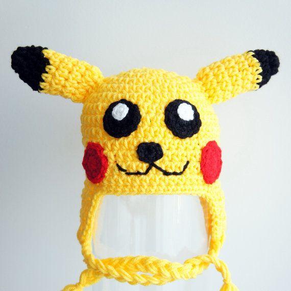 Sombrero de Pikachu Pokemon sombrero del bebé del ganchillo