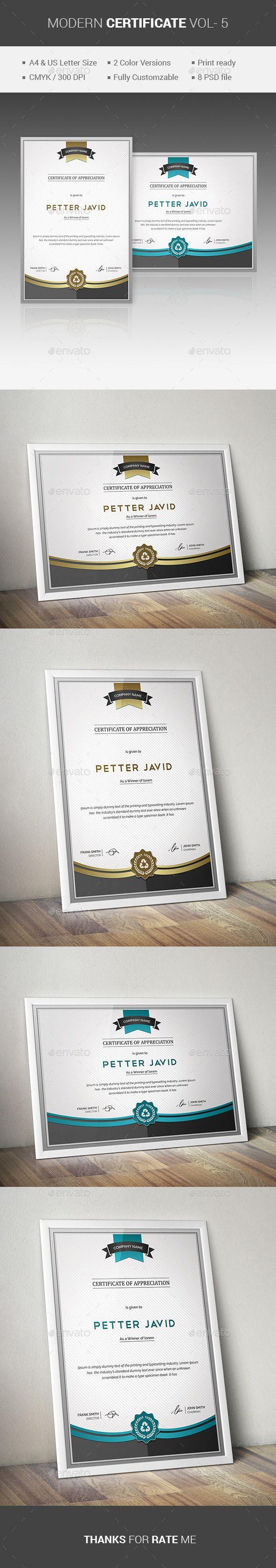 MODERN Certificate VOL- 5 - Certificates Stationery