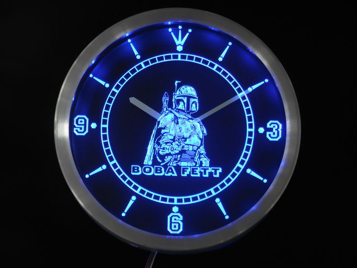 Star Wars Neon Sign LED Wall Clock     Tag a friend who would love this!     FREE Shipping Worldwide     Get it here ---> http://starwarsfansclub.com/nc0217-boba-fett-star-wars-neon-sign-led-wall-clock-wholesale-dropshipping/