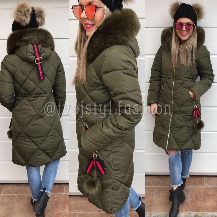 Army zimná bunda s pompom  veľ.M 6490  Čiapka s pompom z pravej kožušiny 2390 #christmasscollection#newcollection#tvojstyl#tvojstylfashion#winterfashion#fashionblogger