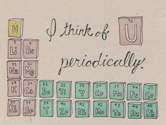 Nerdy love is the best love  - Periodic Table Greeting Card
