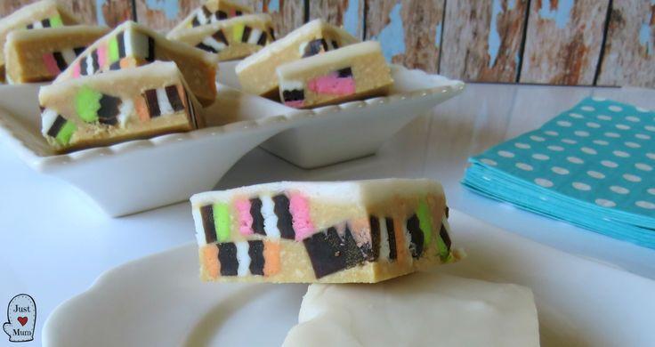 No-Bake Licorice Allsort Slice