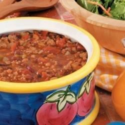 Turkey Bean Chili - Allrecipes.com: Our go to chili that the girls will actually eat. Use tomato juice instead of stewed tomatoes.