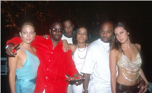 Jennifer Lopez, Puff Daddy, Jay-Z, Aaliyah, and Dame Dash.