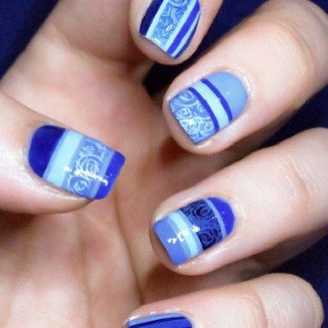 Best 25+ Blue Gel Nails Ideas On Pinterest