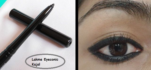 Lakme Eyeconic Kajal Review, Swatch, EOTD