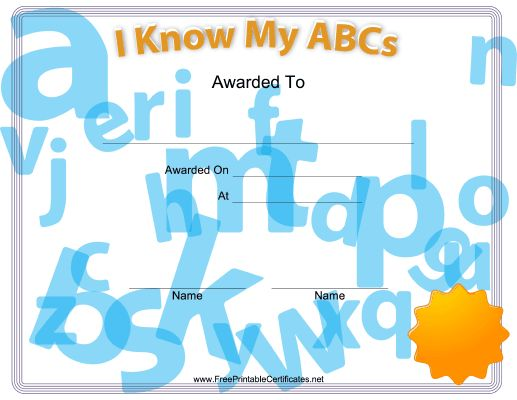 12 best awards images on Pinterest Printable certificates, Award - printable achievement certificates