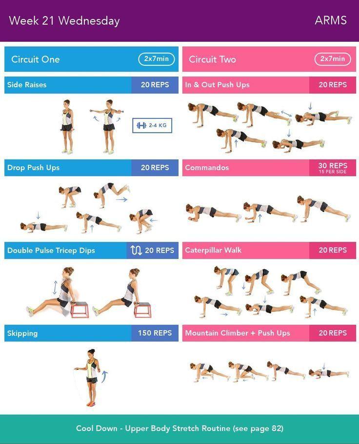 Week 21 Wednesday | BBG 13-24 | Pinterest | Bbg, Workout ...