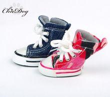 Обувь для собак собака кошка обувь осень и зима джинсовые холст теплый плюшевый мишка(China (Mainland))