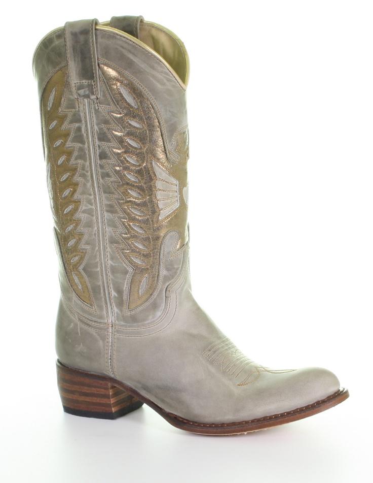 Sendra Boots With Golden Accents @ Van Arendonk