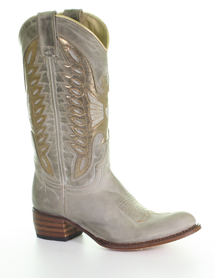 Sendra Boots With Golden Accents @ Van Arendonk