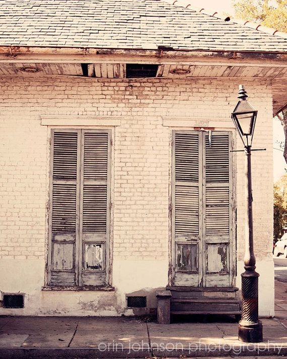 New Orleans Photography French Quarter Architecture Lamppost Fine Art White Home Decor Old