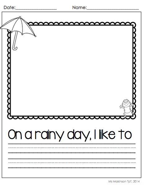 Kindergarten narrative writing prompts