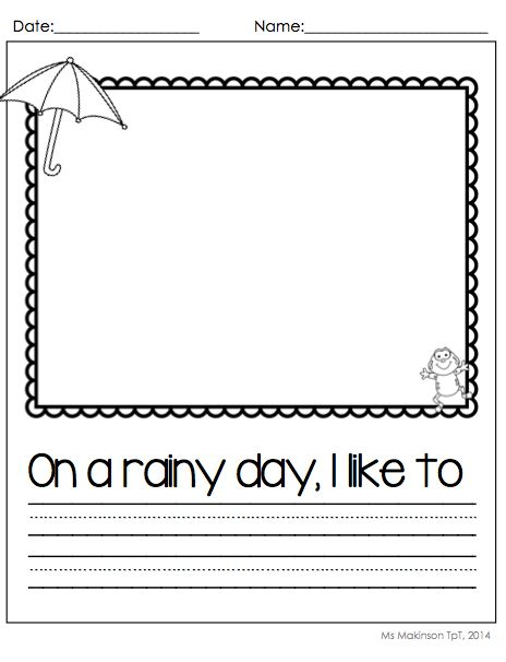 Writing prompts for rainy days