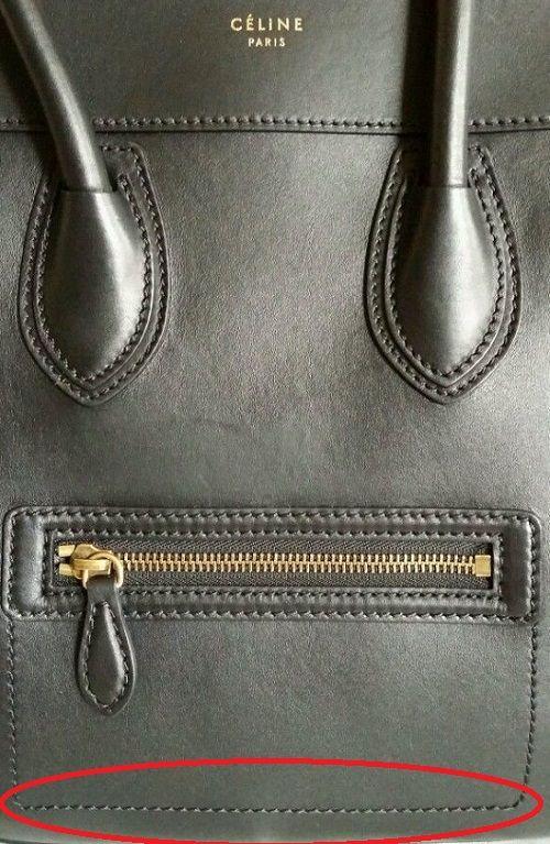 ae1cf57443 How to distinguish real vs fake Celine bags