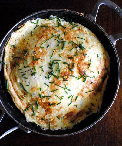 You've Never Seen an Omelet Like This   I've never been a fan of a traditional omelet. I find them to be tough, lacking in flavor, and a waste of a brunch order. So when a friend of mine presented me with a fluffy, open-faced omelet, finished under the broiler, and topped with browned, bubbling cheese, I decided to give omelets a second chance (well, at least this version). To achieve this lighter-than-air version, first separate the eggs. Next you'll need to whip your egg whites. Fluffing…