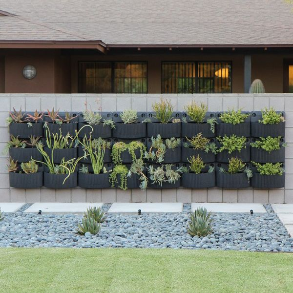 17 best images about vertical gardens on pinterest green for Living wall planter