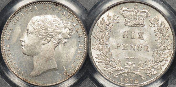 Great Britain 1872 Sixpence PCGS MS66 http://www.thepurplepenny.com/1480,great-britain-1872-sixpence-6d-km-751.1-pcgs-ms66-gem-uncirculated.html