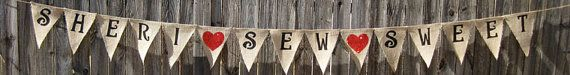 16 Flags  Create Your Own Custom Burlap Banner by sherisewsweet, $31.00