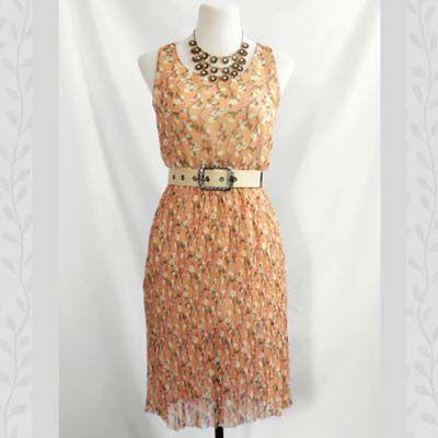 Floral Maple Chiffon Dress