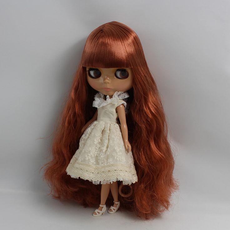 Обнаженная женщина bjd 1/6 кукла черная кожа куклы Длинные красная медь цвет челка кукла изменить DIY 12 дюймов куклы для девочек