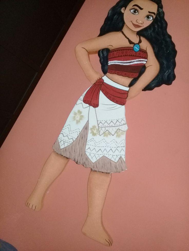 Muñeca de moana para fiesta hechas con hielo seco