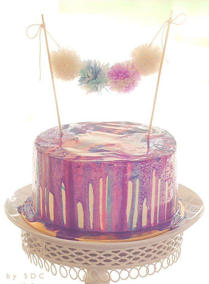 ~ Pom Pom Cake Bunting... @FoodBlogs