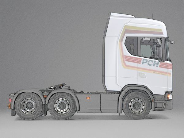 Scania's new 'S' cab looks good in PCH livery, but I don't think I will be going back into owning trucks again.