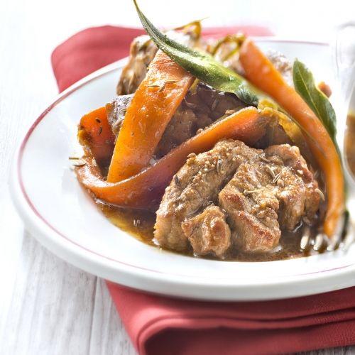 Cocotte de trendrons de veau aux carottes