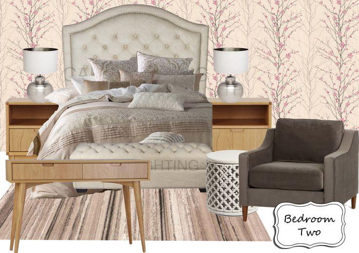 Bedroom 2 Moodboard (updated - a lighter colour scheme)
