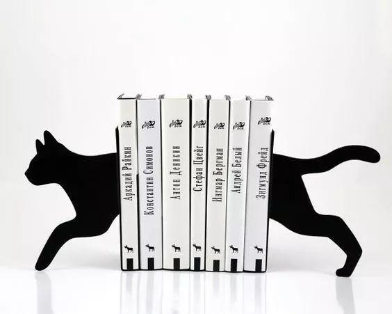 Suporte Aparador De Livros Apoio Cd E Dvd Gato Modelo 2 3d - R$ 34,90 em Mercado Livre