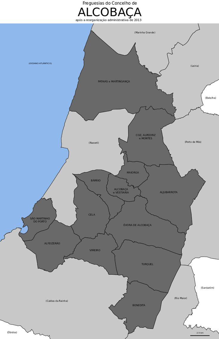 Freguesias do concelho de Alcobaça