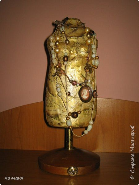 Поделка изделие Моделирование конструирование Винтажный мини-манекен Бумага Бутылки пластиковые фото 1