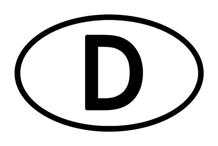 Länderkennzeichen D Deutschland BRD Aufkleber Motorrad Auto PKW KFZ Kennzeichen