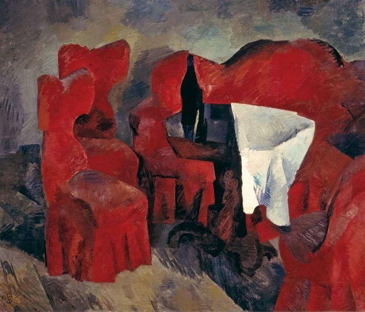 Роберт Фальк. «Красная мебель». 1920 г. ГТГ. Москва. Россия.