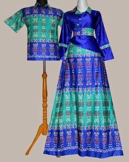 Model Baju Gamis Batik Kombinasi Satin Batik Embos In 2019