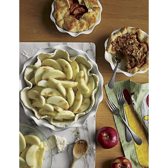 Ruffled Pie Dishes Large and Individual | Crate and Barrel