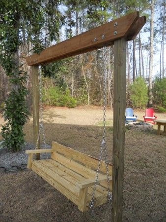 I already have a porch swing that we aren't using...maybe I can convince my husband to make this frame for it when we do the back yard? -Do It Yourself Home Projects from Ana White