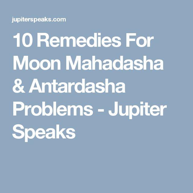 10 Remedies For Moon Mahadasha & Antardasha Problems - Jupiter Speaks