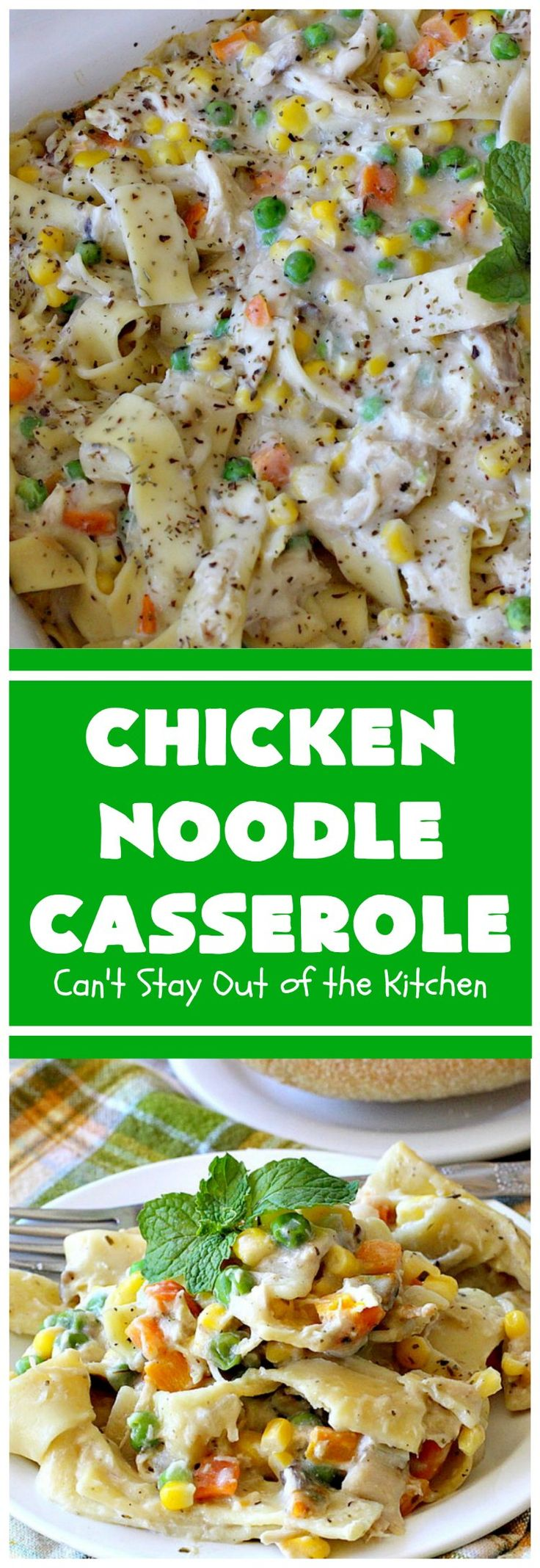 Chicken noodle casserole   – Food