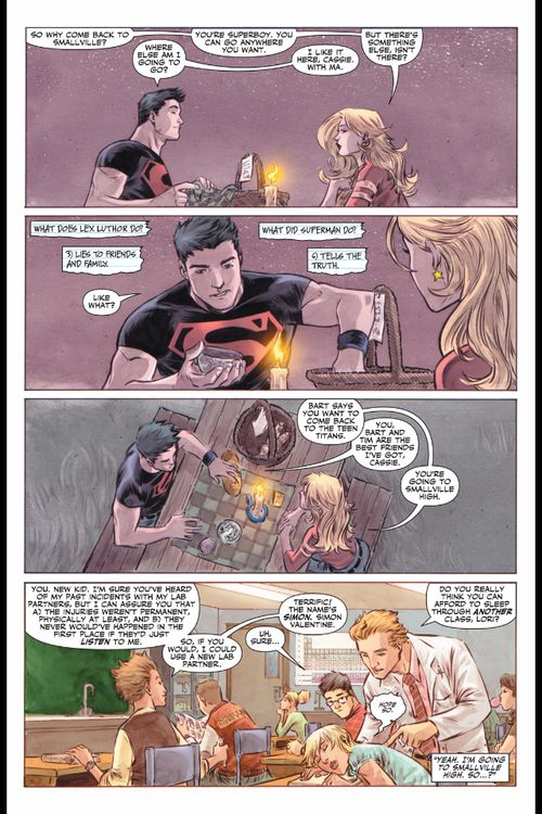 superboy and wonder girl | ENTIRE CONNER KENT AND CASSIE SANDSMARK'S DINNER UNDER THE MOON