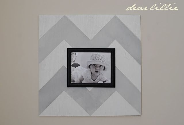 Oversized Chevron Picture Frame Tutorial by Dear Lillie