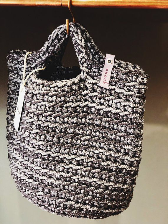 df319510a4f10 Tote Bag Scandinavian Style Crochet Tote Bag Handmade Bag Knitted ...