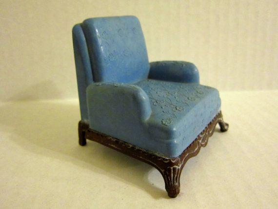 Vintage Plastic Dollhouse Furniture Renwal Doll House Chair Plastic Dollhouse Furniture And