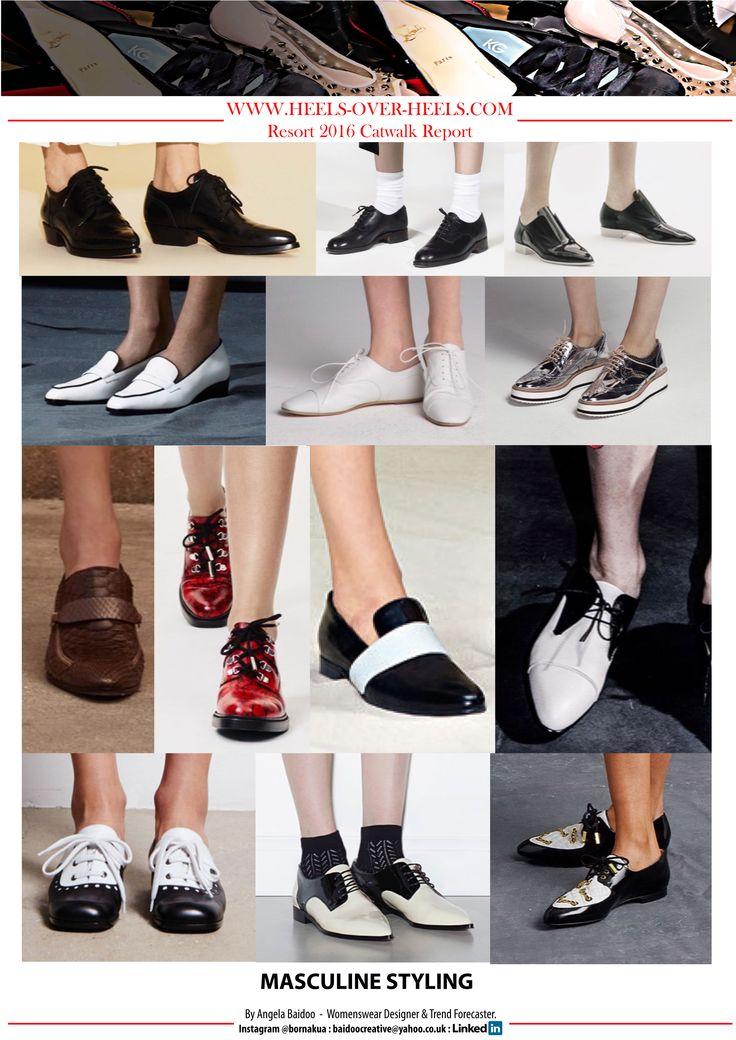 RESORT 2016 CATWALK FOOTWEAR TREND REPORT - MASCULINE STYLING, LOAFERS, BROGUES