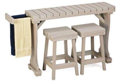 Bars For Spas Hot Tubs | Signature Redwood Bar & Stool Sets